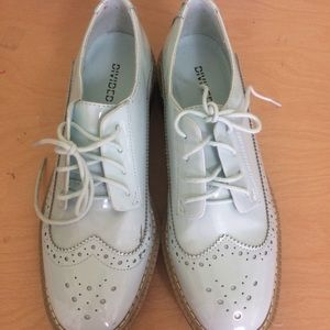 Mint Green Oxfords